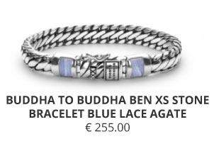 BUDDHA TO BUDDHA BEN XS STONE BRACELET BLUE LACE AGATE-Wolters-Juweliers-Coevorden-Emmen