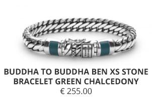BUDDHA TO BUDDHA BEN XS STONE BRACELET GREEN CHALCEDONY Wolters juweliers Coevorden Emmen