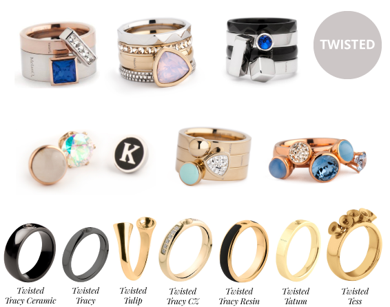 MelanO Twisted ringen MelanO Cateye ringen Wolters Juweliers Coevorden Emmen Hoogeveen Hardenberg